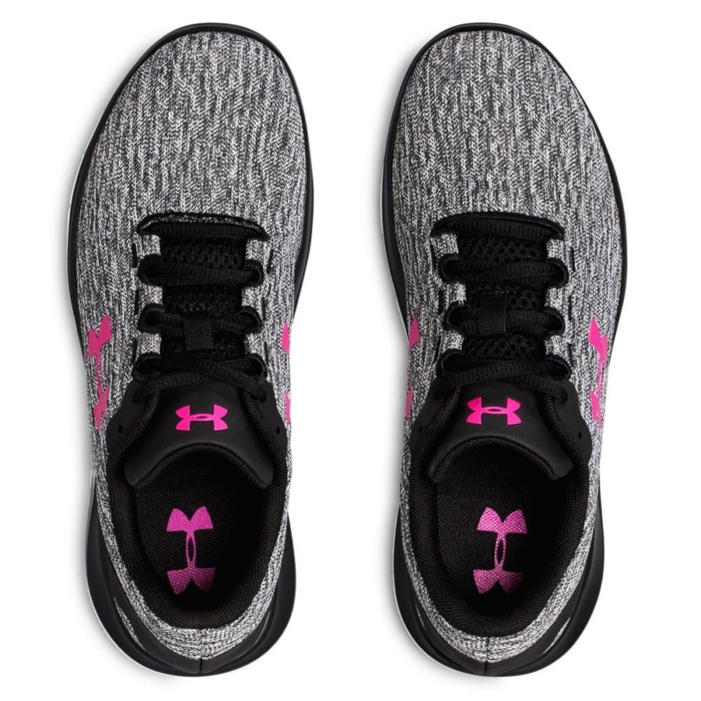 UNDER ARMOUR Women's UA Remix Running Shoes - BLK/WHT/TROPIC -002