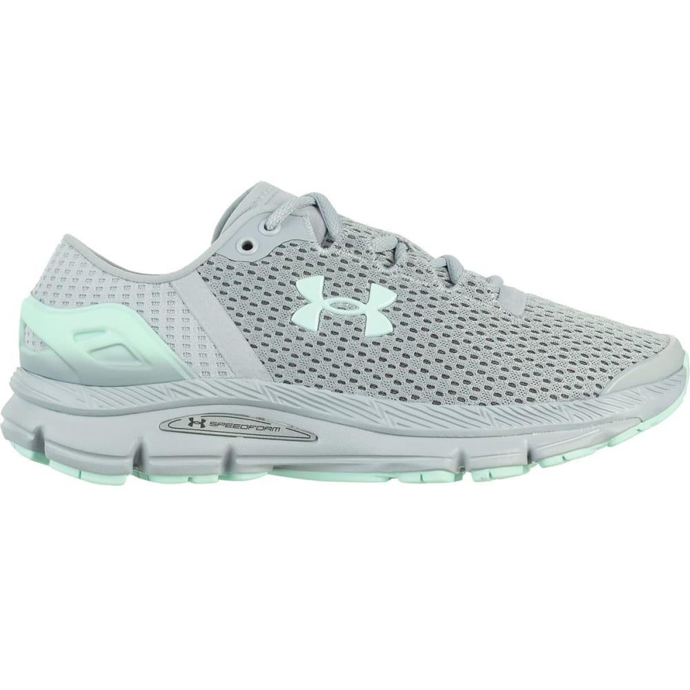 UNDER ARMOUR Women's Speedform Intake 2 Running Shoes - OVERCAST GRAY -100