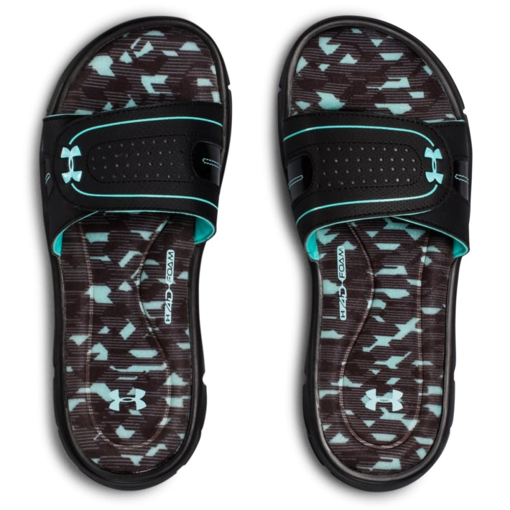 UNDER ARMOUR Women's Ignite VIII Edge Slide Sandals - BLACK