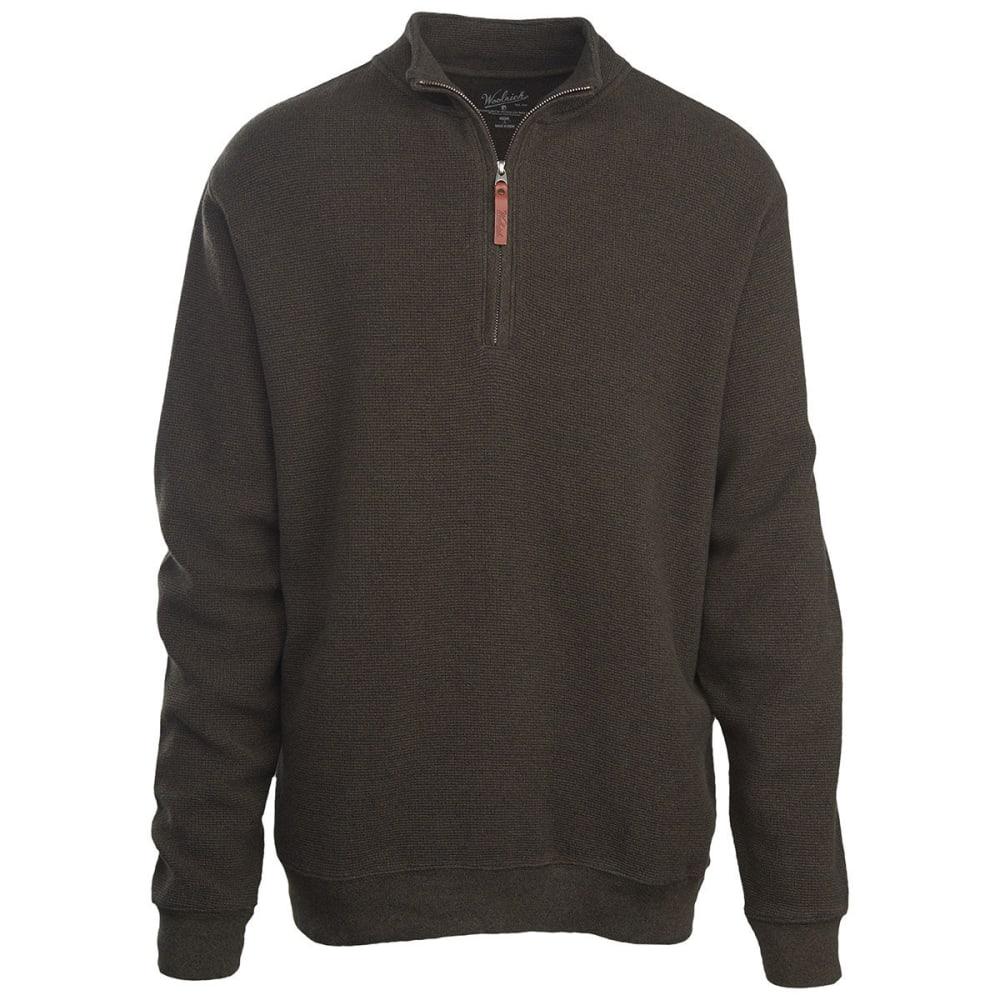 WOOLRICH Men's Bromley Half Zip Pullover - DARK LODEN HEATHER