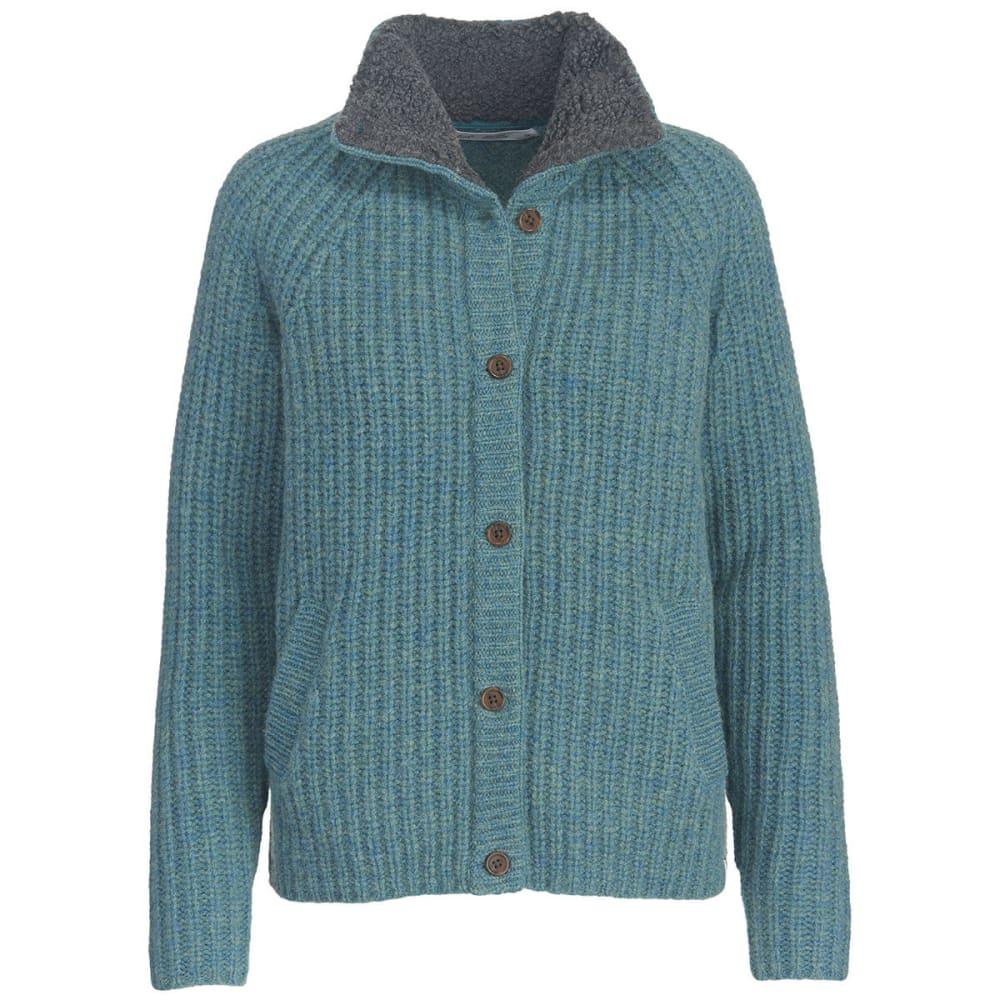 WOOLRICH Women's By The Fire Shetland Wool Cardigan Sweater - OCEAN BLUE