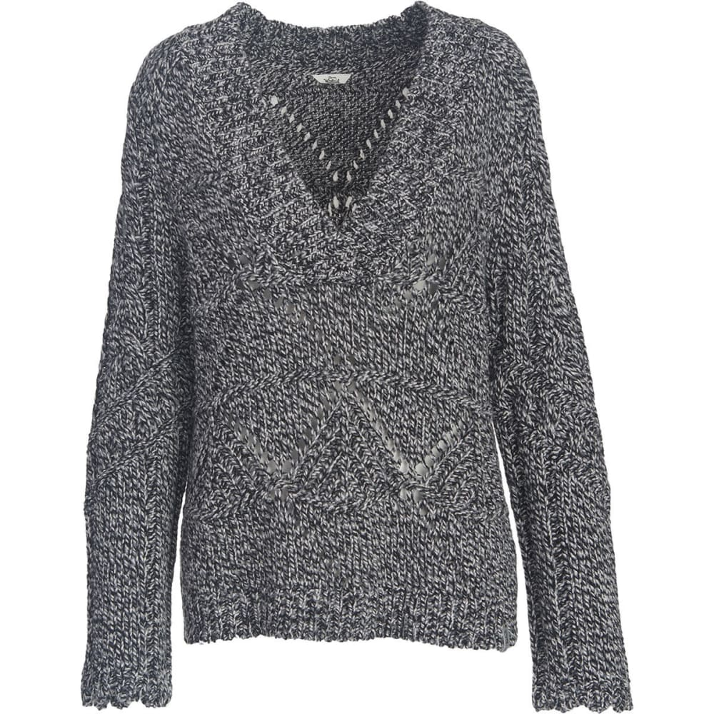 WOOLRICH Women's Lambswool Blend V-Neck Sweater - BLACK