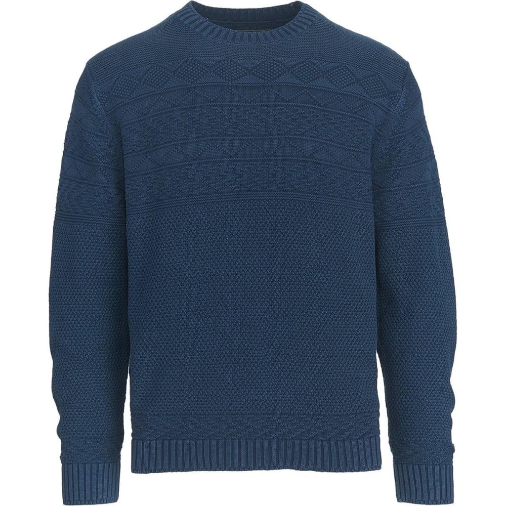 WOOLRICH Men's Deep Channel Guernsey Sweater - DEEP INDIGO