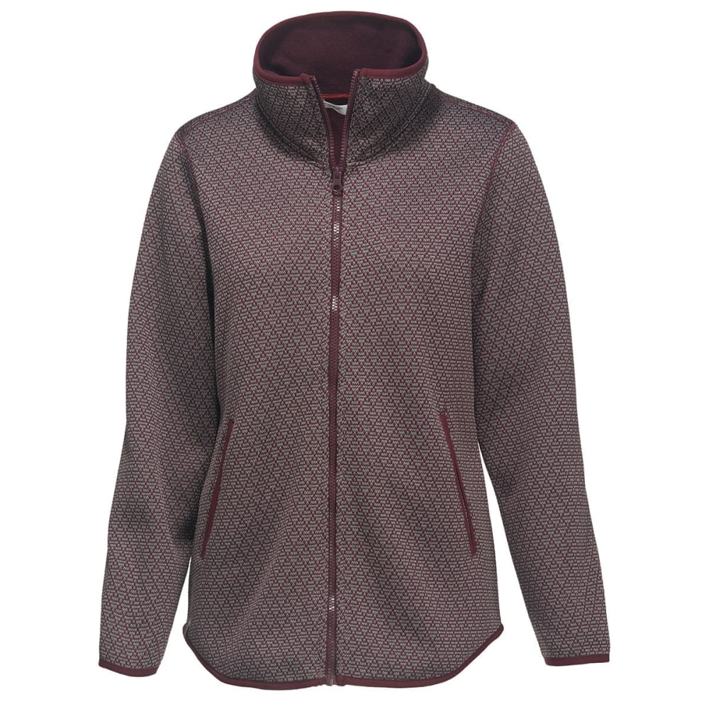 WOOLRICH Women's Lochlyn Fleece Long Full Zip Jacket - WINE