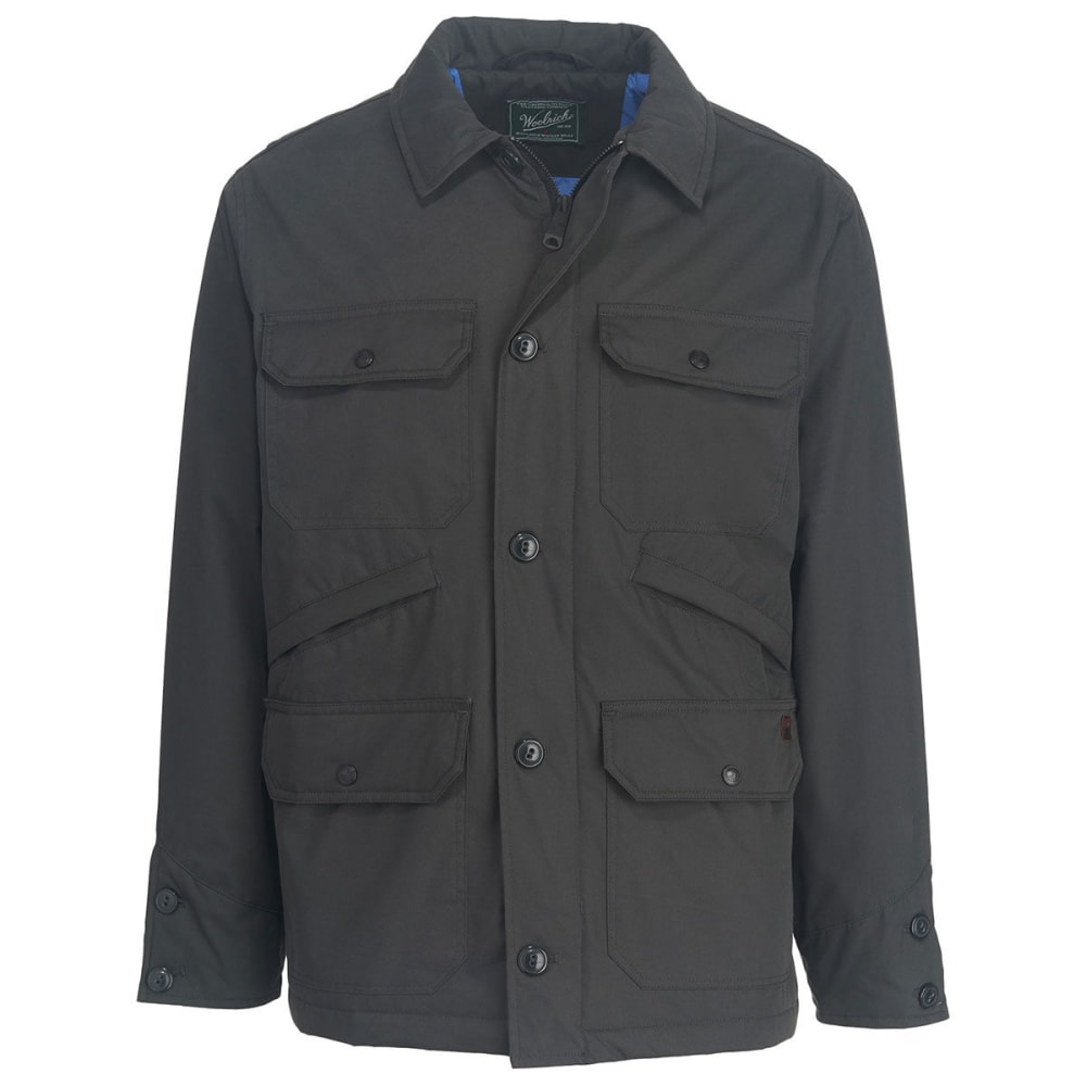 WOOLRICH Men's Crestview Eco Rich Field Jacket - ASPHALT