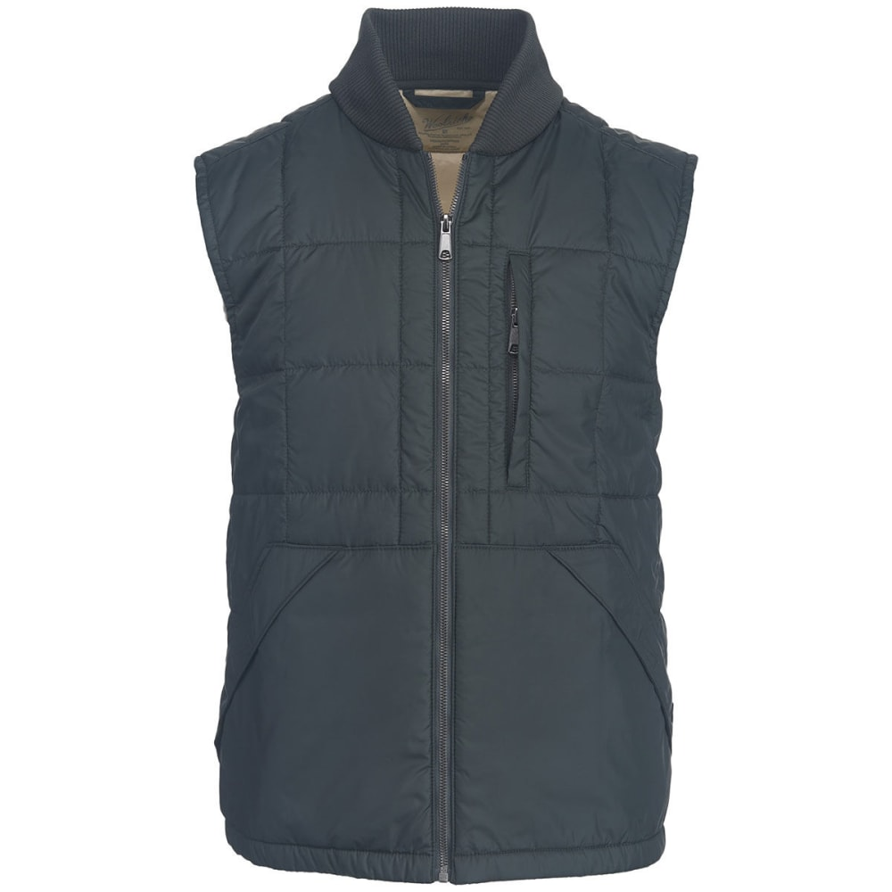 WOOLRICH Men's Exploration Heritage Eco Rich Packable Vest - ASPHALT