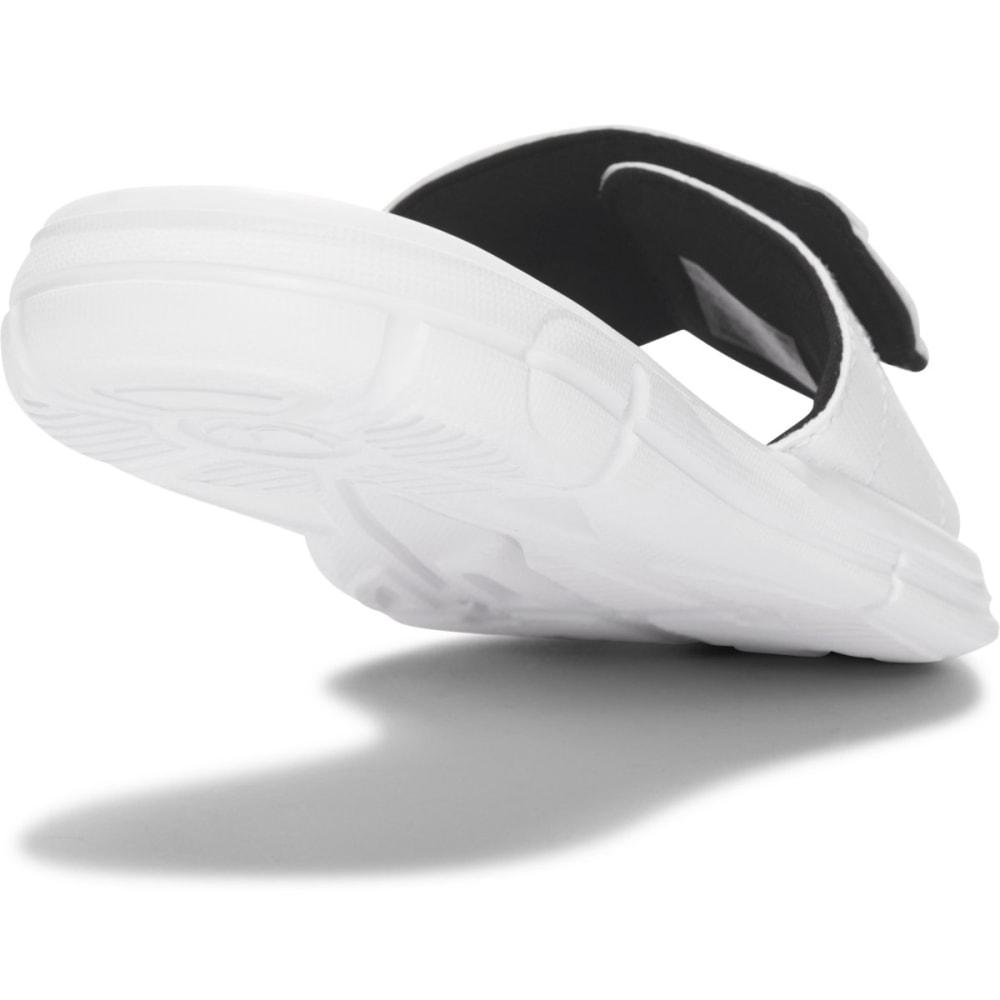 UNDER ARMOUR Boys' UA Ignite V Slides - WHITE/BLACK