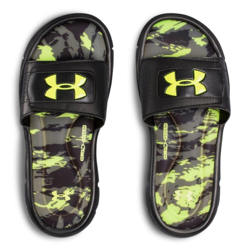 UNDER ARMOUR Boys' Ignite V Breaker Slide Sandals - BLACK/CHAR
