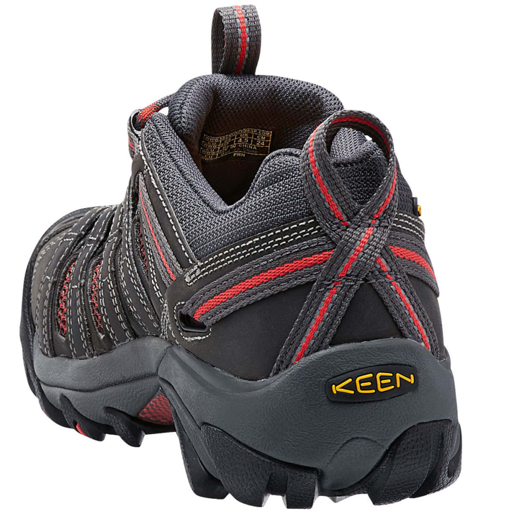 KEEN Women's Flint Low Steel Toe Work Shoes - MAGNET/ROSE