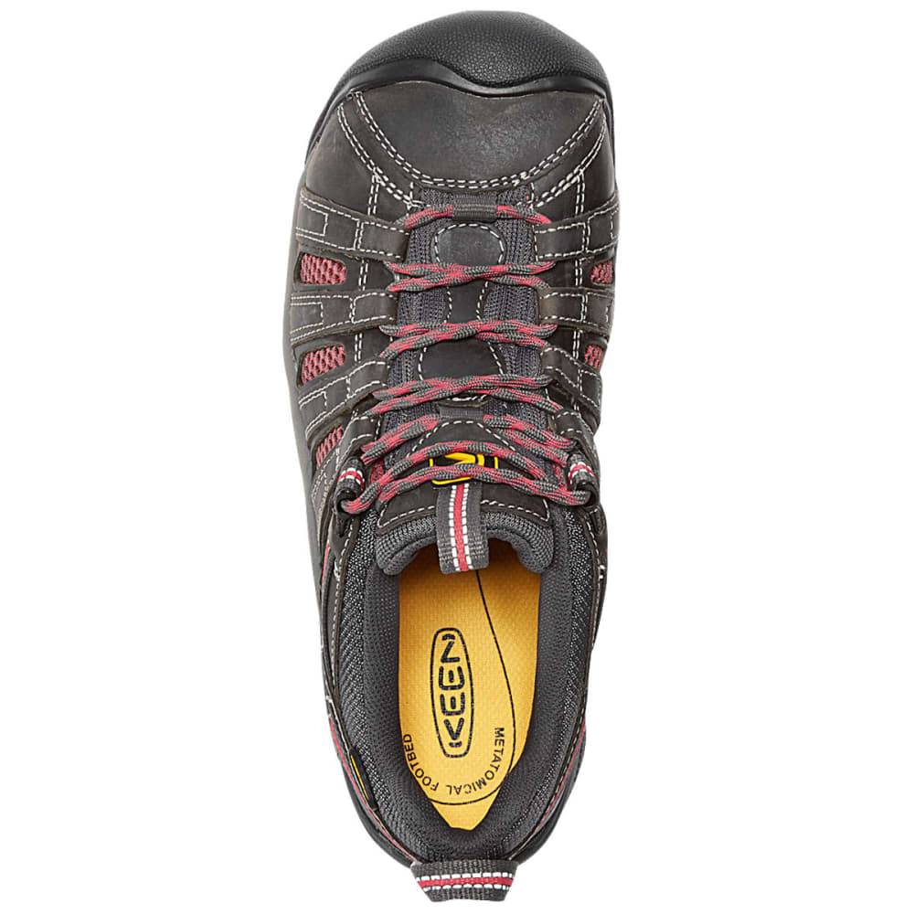 KEEN Women's Flint Low Steel Toe Work Shoes - MAGNET/ROSE