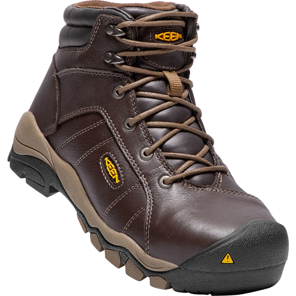 "Keen Women's Santa Fe 6"" Aluminum Toe Boot - Brown, 6.5"