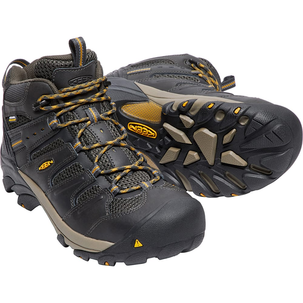 KEEN Men's Lansing Waterproof Mid Steel Toe Boot - RAVEN TAWNEY/OLIVE
