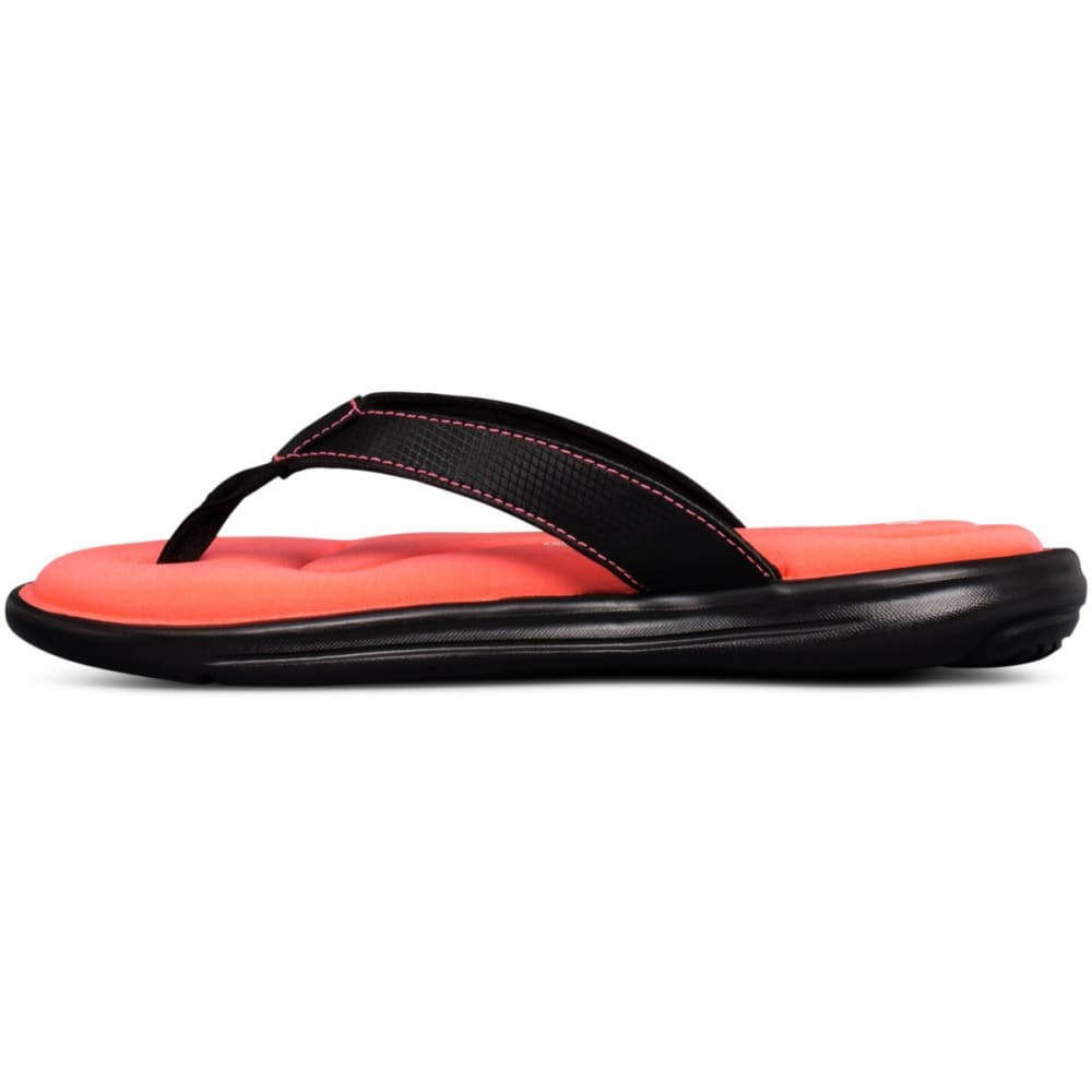 UNDER ARMOUR Girls' UA Marbella VI Slide Sandals - BLACK/PINK