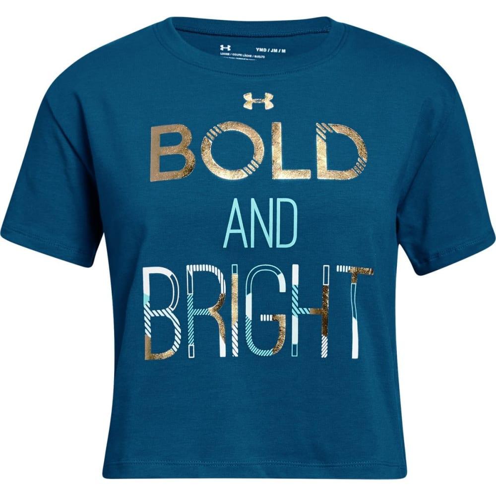 UNDER ARMOUR Big Girls' UA Bold & Bright Short-Sleeve Tee - MOROCCAN BLUE-487