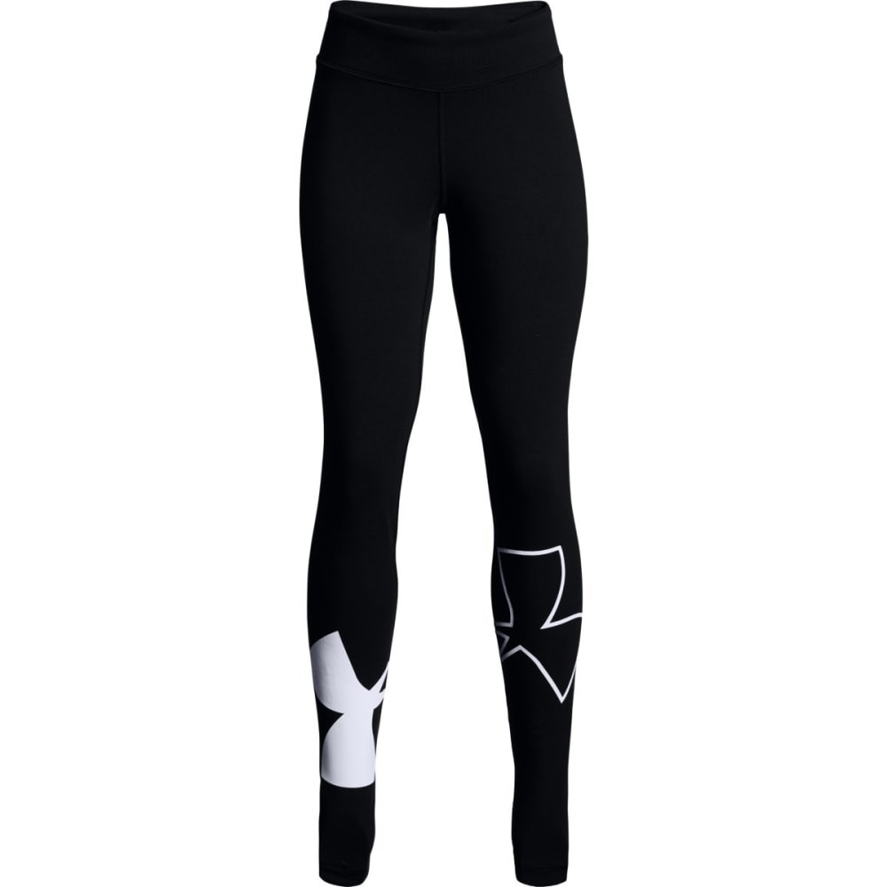 UNDER ARMOUR Big Girls' UA Favorite Knit Leggings - BLACK/WHITE-001
