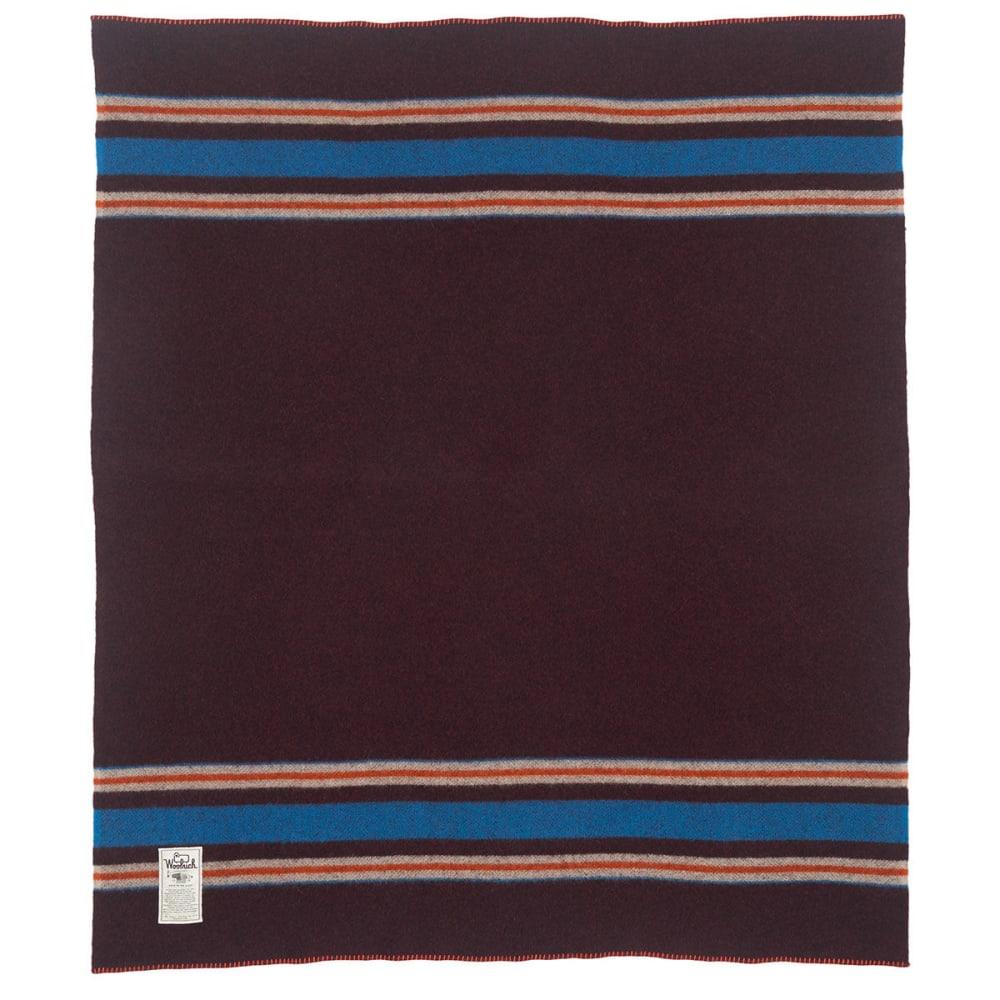 WOOLRICH Camp Wool Blanket - BURGUNDY HEATHER