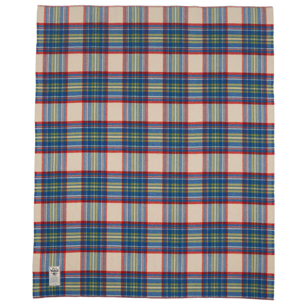 WOOLRICH Seven Springs Wool Blanket - WOOL CREAM MULTI