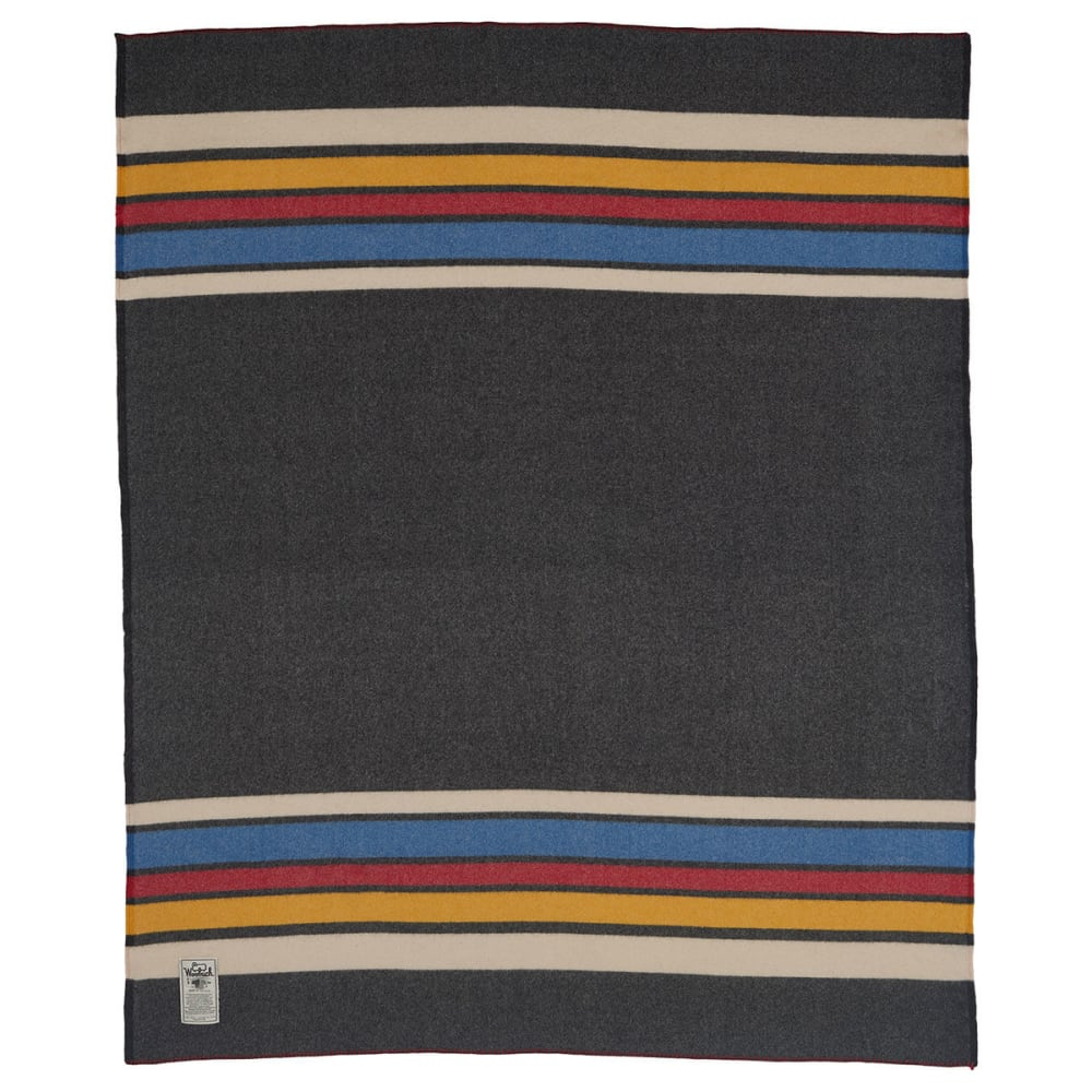 WOOLRICH Walnut Ridge 100% Soft Wool Blanket - OXFORD