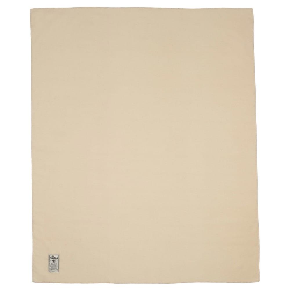 WOOLRICH Solid 100% Soft Wool Blanket - WOOL CREAM