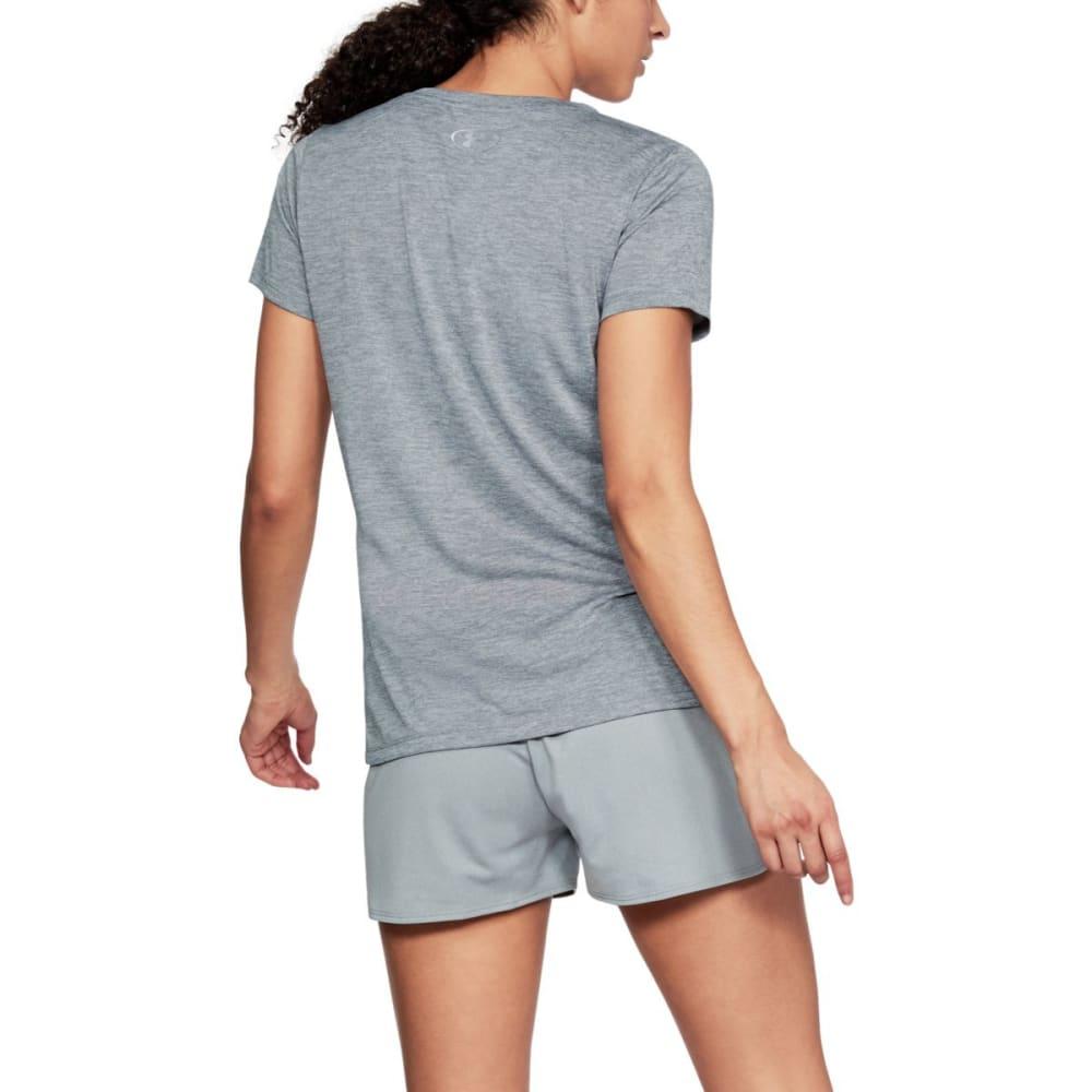 UNDER ARMOUR Women's UA Tech Graphic Twist Short-Sleeve Tee - STEEL/BRILLIANCE-035