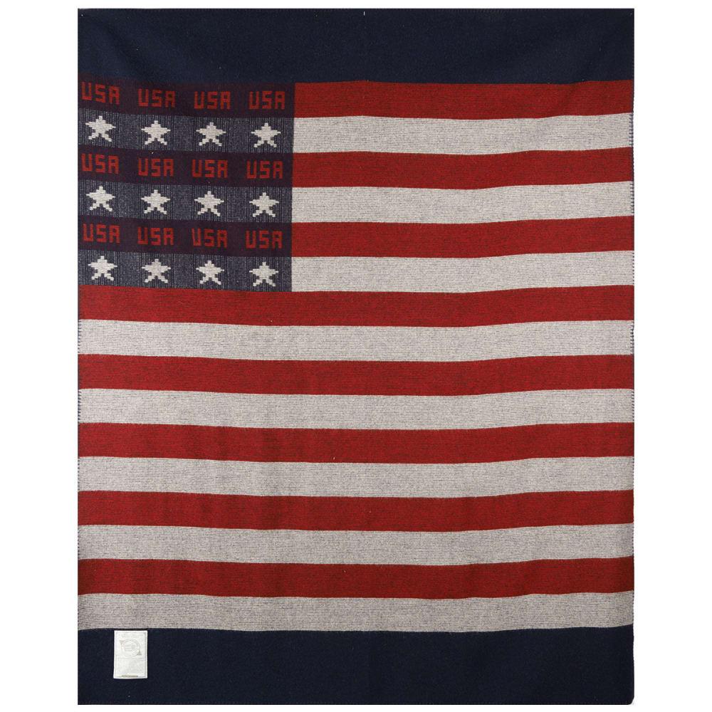 WOOLRICH Freedom Throw Wool Blanket - RED