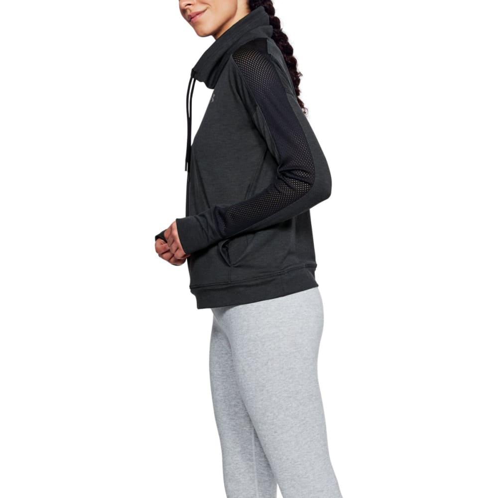 UNDER ARMOUR Women's UA Featherweight Fleece Funnel Neck Pullover - BLACK-001