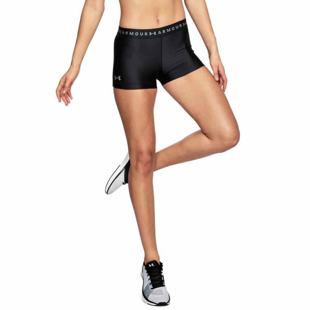 UNDER ARMOUR Women's HeatGear Armour Shorty Shorts - BLACK/BLACK-001