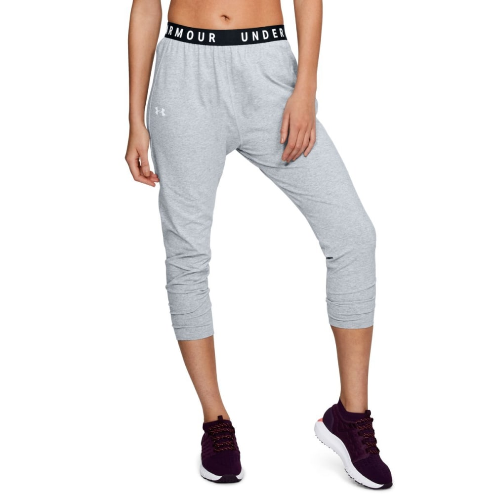 UNDER ARMOUR Women's UA Favorite Tapered Slouch Pants - STEEL LT HTR-035