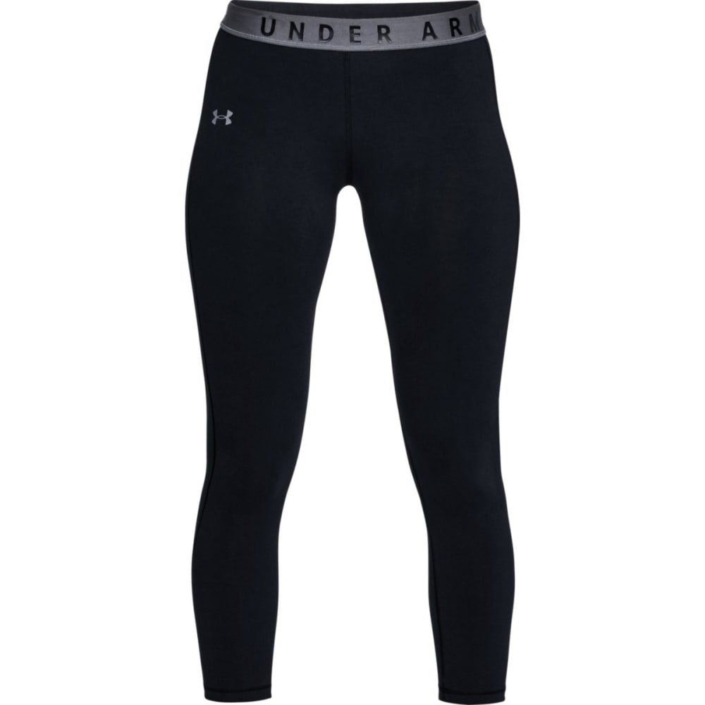UNDER ARMOUR Women's UA Favorite Crop Tights - BLACK-001