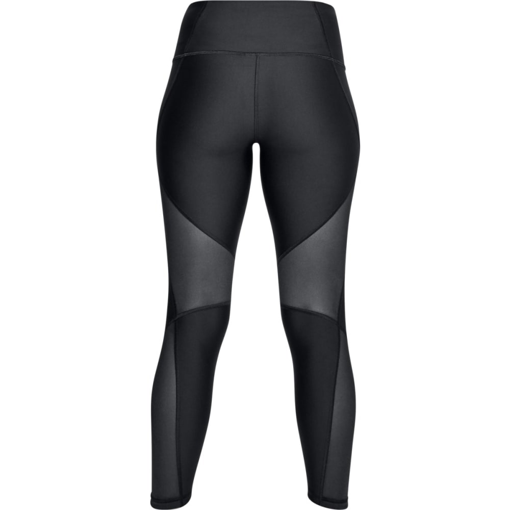 UNDER ARMOUR Women's HeatGear® Armour Mesh Ankle Crop Leggings - BLACK-001