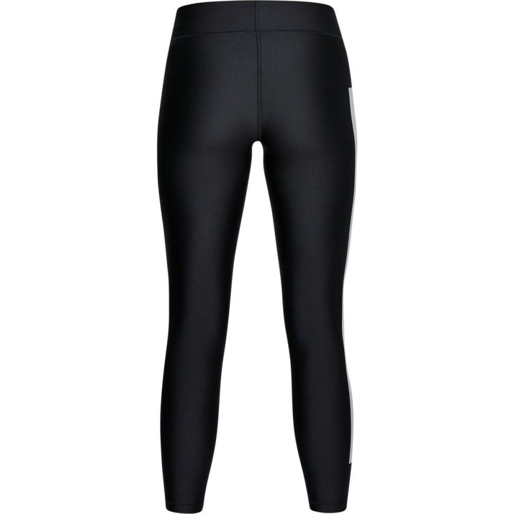UNDER ARMOUR Women's HeatGear Armour Branded Ankle Crop Leggings - BLACK/WHITE-001