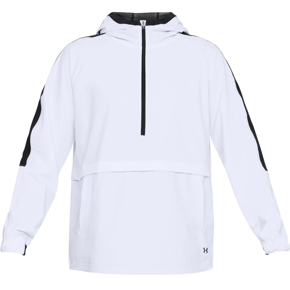 UNDER ARMOUR Women's UA Storm Woven Anorak Jacket - WHITE/BLACK-100