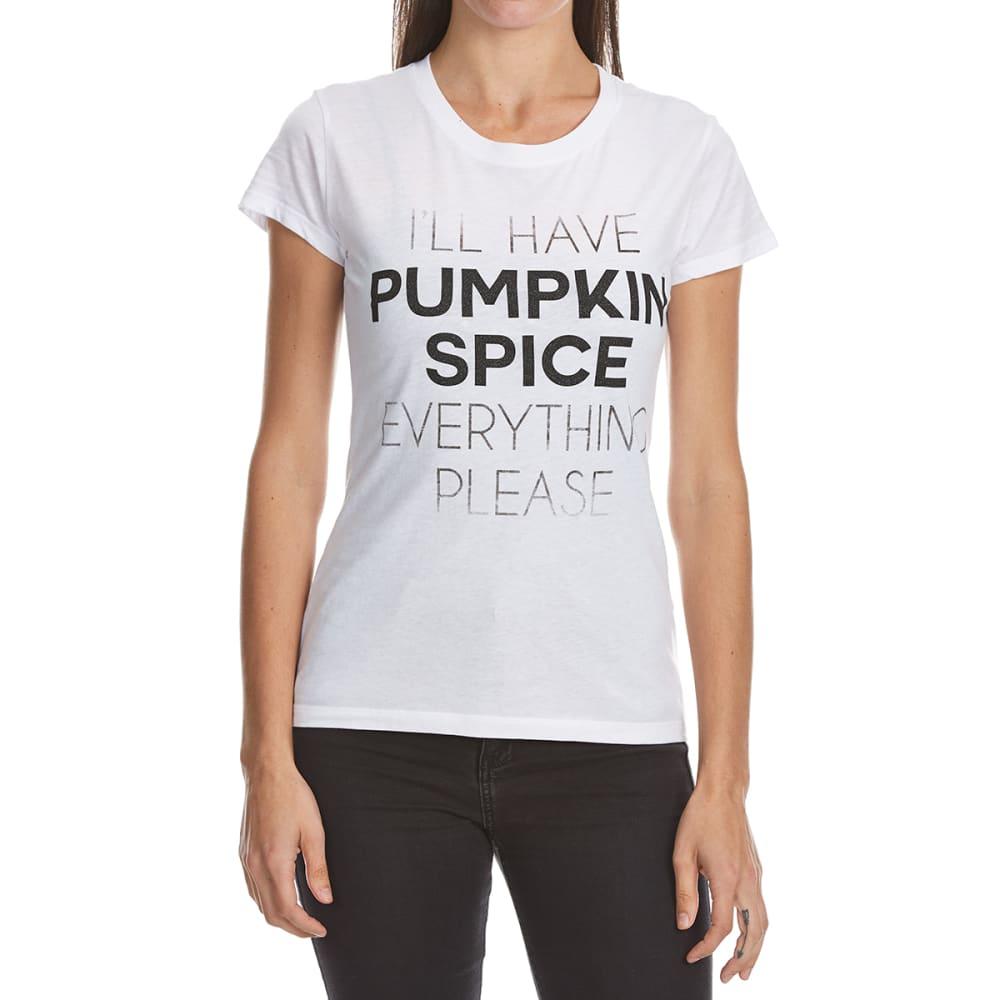 HYBRID Juniors' Pumpkin Spice Everything Tee - WHITE