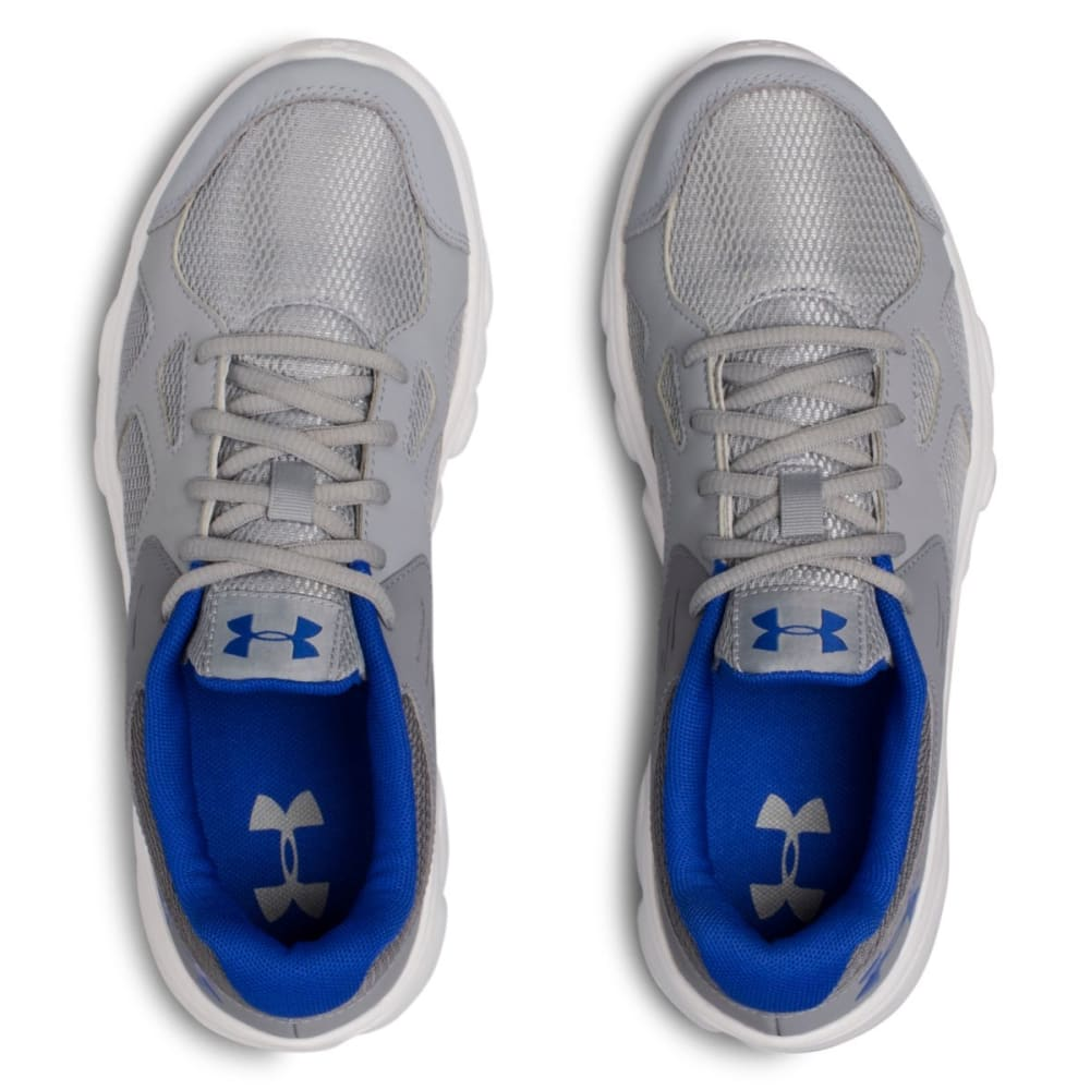 UNDER ARMOUR Big Boys' Grade School Pace RN Running Shoes - STEEL/WHT/TEAM ROYAL