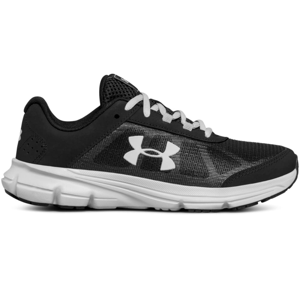 Under Armour Boys' Grade School Ua Rave 2 Running Shoes, Wide - Black, 4