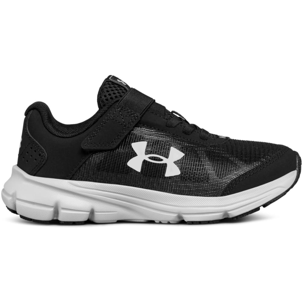 UNDER ARMOUR Little Boys' Preschool UA Rave 2 Alternate Closure Running Shoes, Wide - BLACK