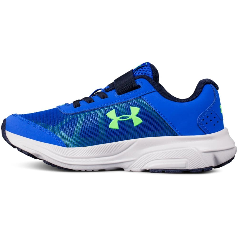 UNDER ARMOUR Little Boys' Preschool UA Rave 2 Alternate Closure Running Shoes - ROYAL BLUE-400
