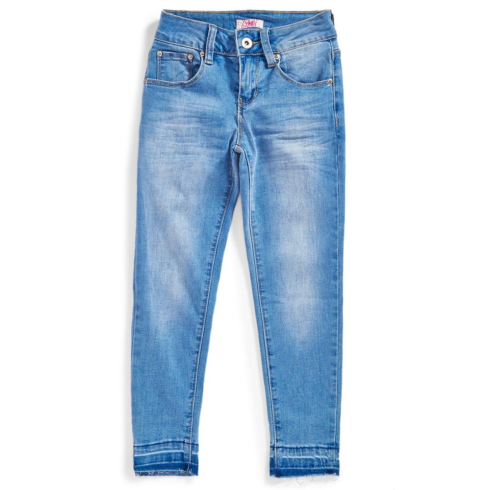 YMI Big Girls' Love Released Hem Anklet Jeans - C78-LIGHT WASH