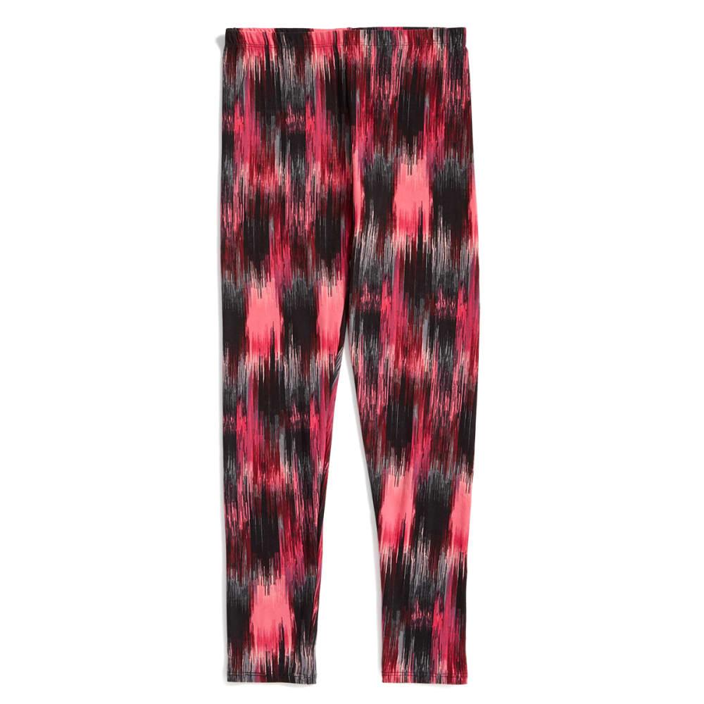 RBX Girls' Marble Print Peached Leggings - PINK CABARET PRINT