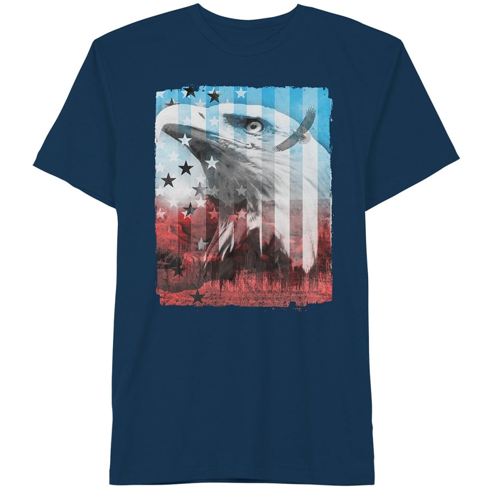 HYBRID Guys Eagle Patriot Tee - Blue, L