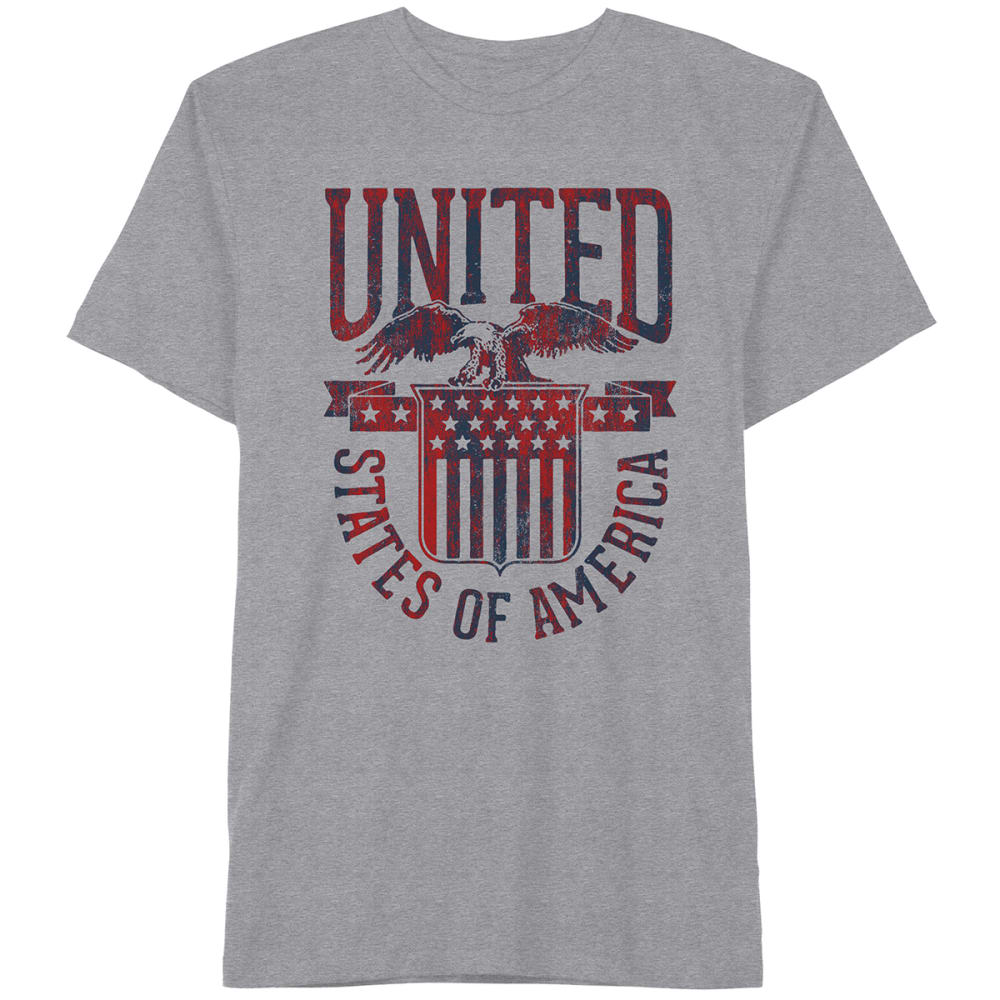 HYBRID Guys' United Shield Tee - HTR GRY