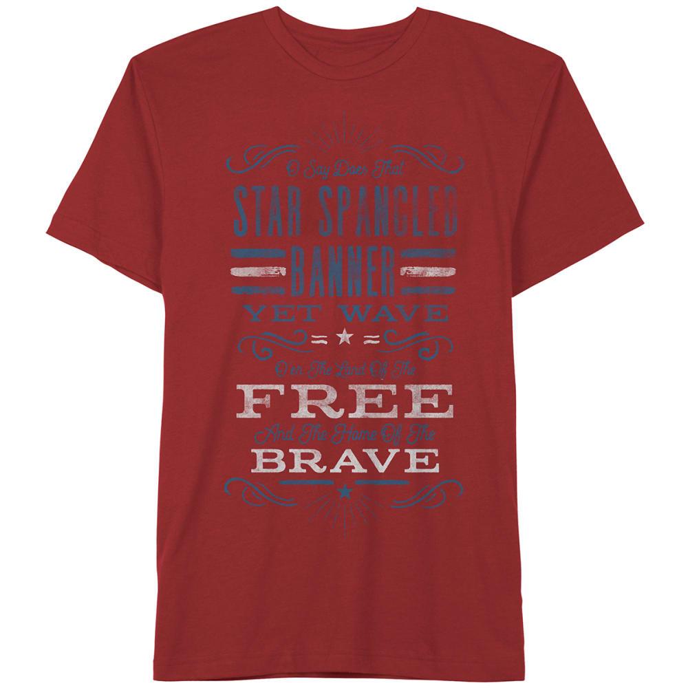 HYBRID Guys Star Spangled Banner Tee - Red, L