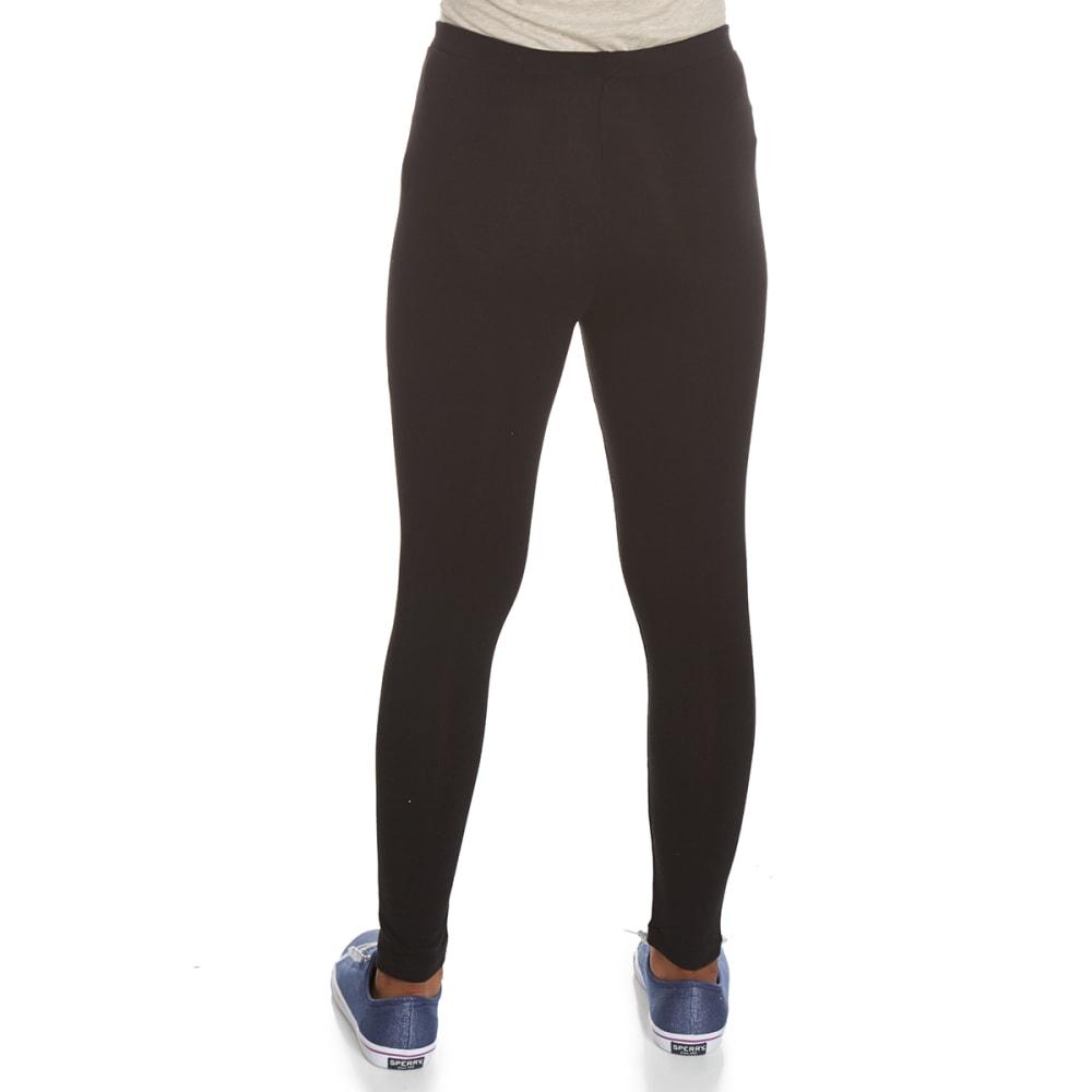 POOF Girls' Solid Basic Leggings - BLACK