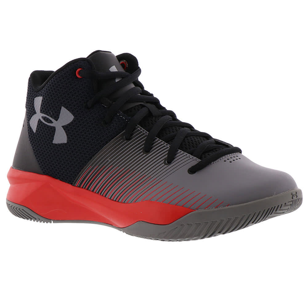UNDER ARMOUR Big Boys' Grade School Surge Basketball Shoes - BLACK