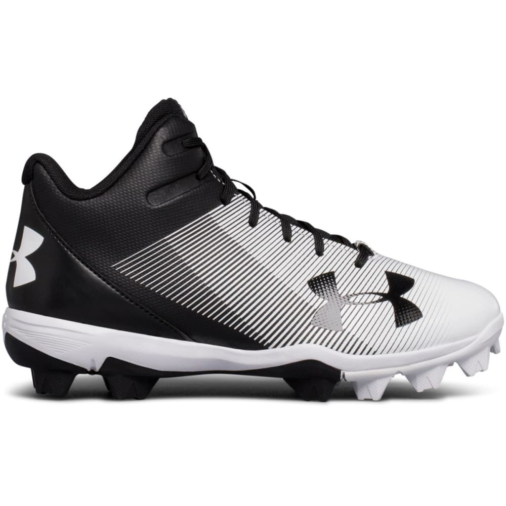 UNDER ARMOUR Kids' Leadoff Mid RM Jr. Baseball Cleats - BLACK