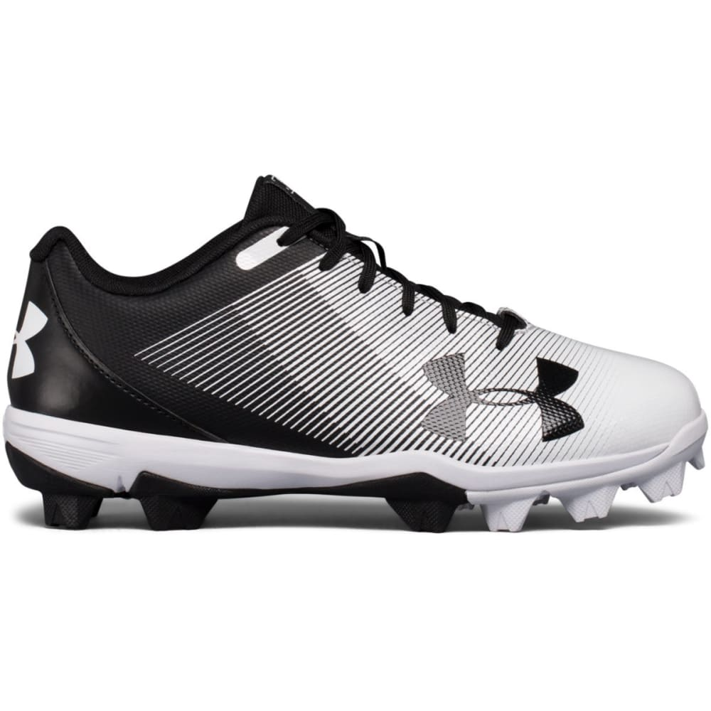 UNDER ARMOUR Kids' UA Leadoff Low RM Jr. Baseball Cleats - BLACK