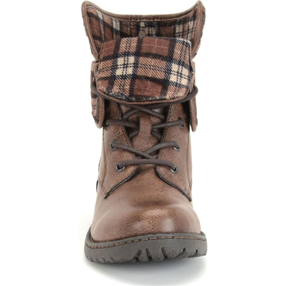 B.O.C. Women's Saturn Lace-Up Boots, Latte/Plaid - LATTE/PLAID