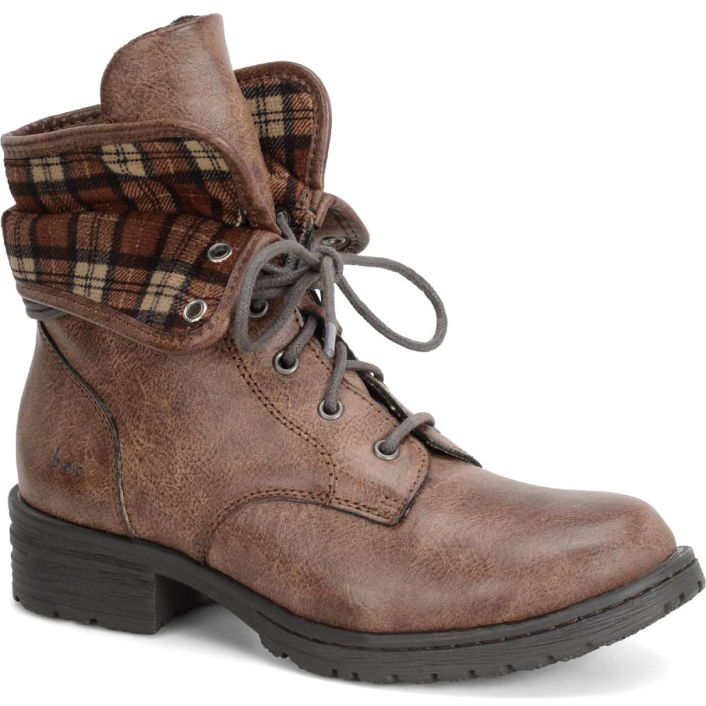 B.o.c. Women's Saturn Lace-Up Boots, Latte/plaid - Brown, 8