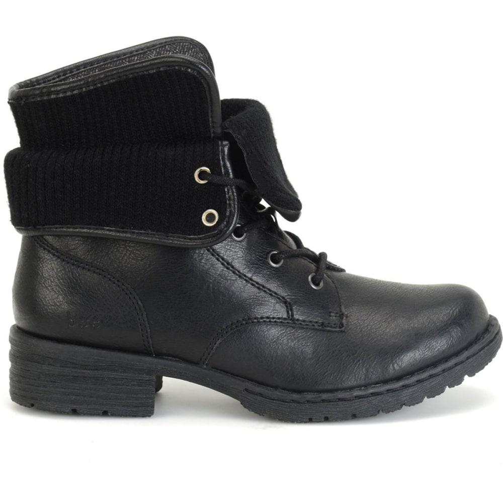 B.O.C. Women's Saturn II Combat Boots, Black - BLACK