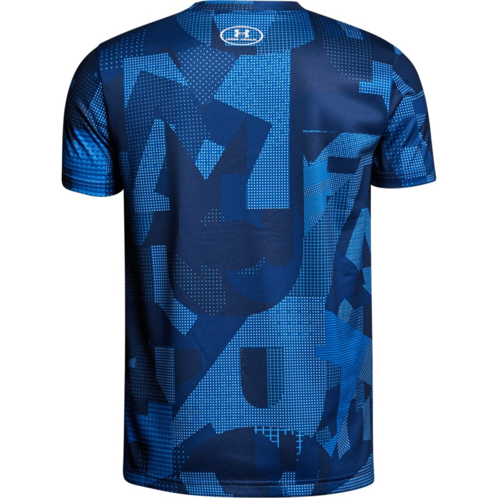 UNDER ARMOUR Big Boys' Printed Crossfade Short-Sleeve Tee - ROYAL/STEEL-400